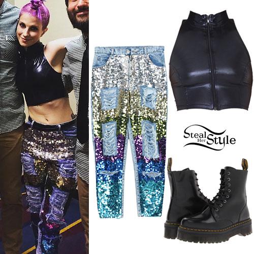 Hayley Williams: Sequin Boyfriend Jeans