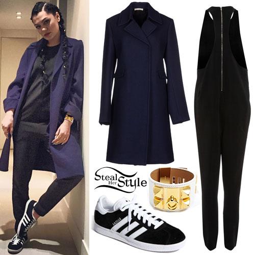 Jessie J: Black Jumpsuit Outfit