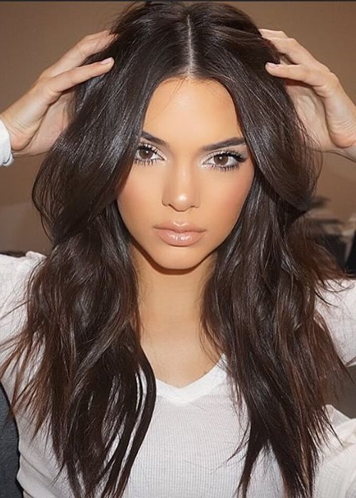 Hair Style All : Kendall Jenner Wavy Dark Brown Loose Waves Hairstyle Steal Her Style