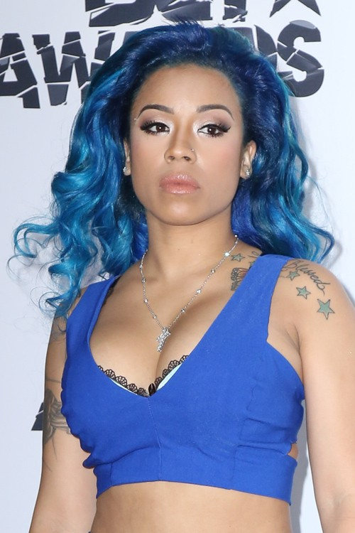 Keyshia Cole Wavy Blue Uneven Color Hairstyle | Steal Her ...