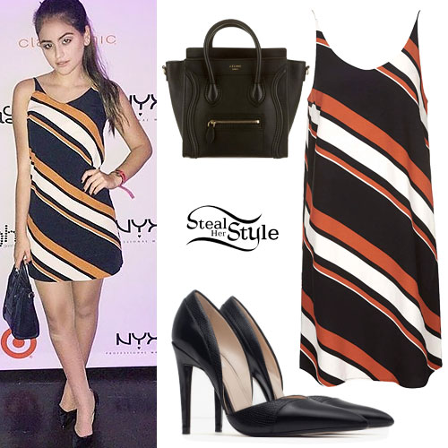 Lauren Giraldo: Stripe Dress, Patent Pumps