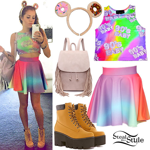 Mahogany Lox: Rainbow Top & Skirt