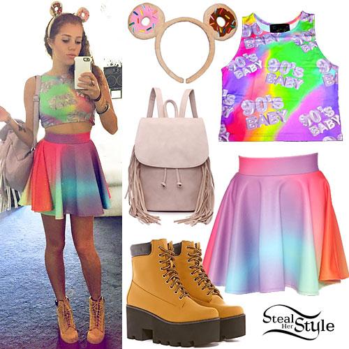 Mahogany Lox: Rainbow Top & Skirt