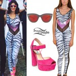 Marina Diamandis: Zebra Print Catsuit