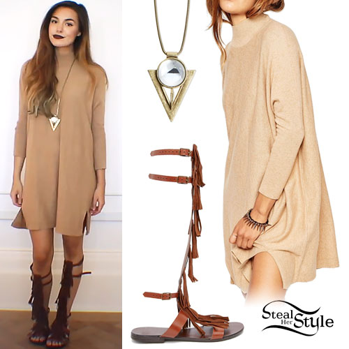 Marzia Bisgonin: Taupe Sweater Dress
