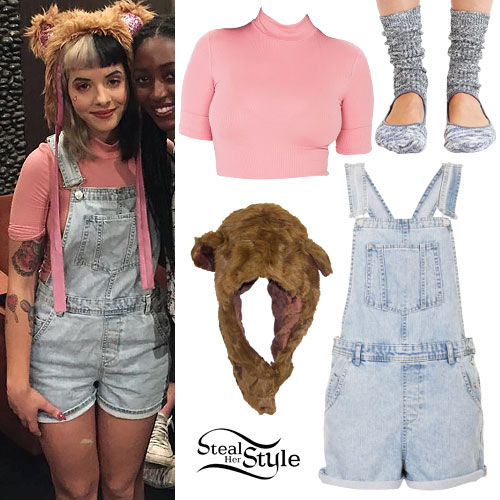 Melanie Martinez: Pink Top, Denim Overalls