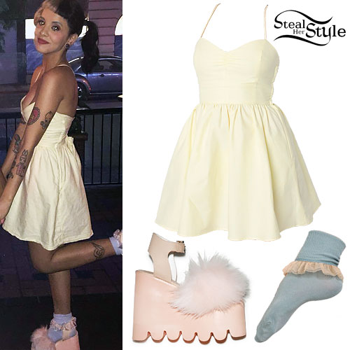Melanie Martinez Yellow Dress Fluffy Shoes Steal Her Style