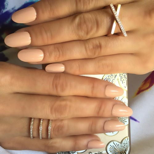Nina Dobrev Nude Nails | Steal Her Style