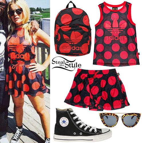 Paloma Faith: Adidas Polka Dot Outfit