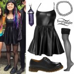 Rena Lovelis: Leather Skater Dress
