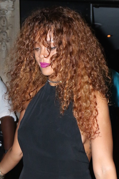 Rihanna arrives to Haus Nightclub holding hands with a female friend ...