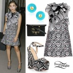 Rowan Blanchard: Petal Print Dress & Shoes