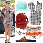 Ruby Rose: Feather Print Shorts