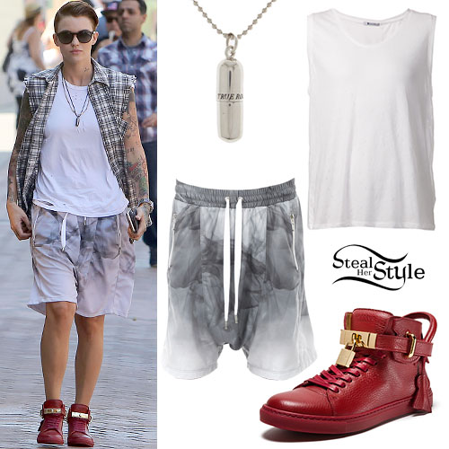 Ruby Rose: Smoke Shorts, Red Sneakers
