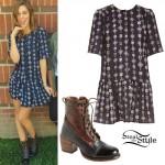 Sadie Robertson: Print Dress, Combat Boots