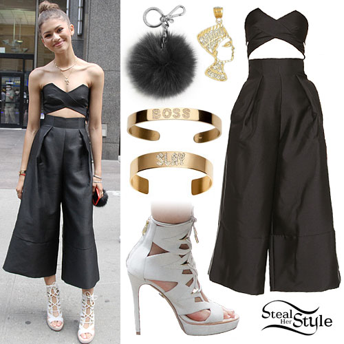 Zendaya: Culotte Jumpsuit, White Booties