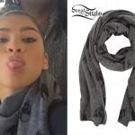 Zendaya Coleman: Skull Print Scarf