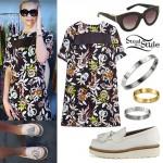 Amanda Steele: Floral Dress, Platform Loafers