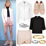 Amanda Steele: Mesh Bomber, Pink Skort