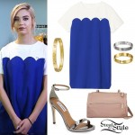 Amanda Steele: Scalloped Shift Dress