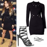 Becky G: Grommet Long-Sleeve Dress