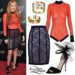 Bella Thorne: Lace Bodysuit & Skirt