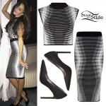 Chloe Bridges: Stripe Top & Skirt