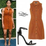 Ciara: Corduroy Shirt Dress