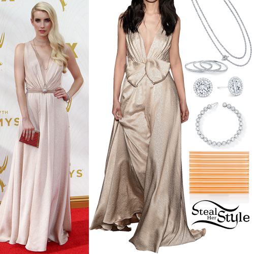 Emma Roberts at the 67th Annual Primetime Emmy Award-Arrivals held at The Microsoft Theatre in Los Angeles. September 20th, 2015 - photo: FameFlynet