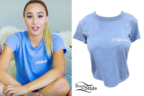 Eva Gutowski: 'California' Blue T-Shirt