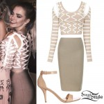 Griffin Arnlund: Taupe Bandage Outfit