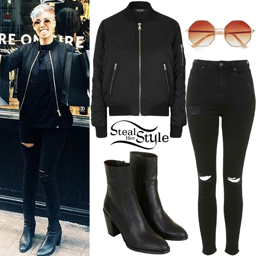 Halsey: Bomber Jacket, Black Boots | Steal Her Style гвен стефани 2018