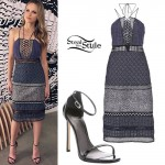 Halston Sage: Lace Up Printed Dress