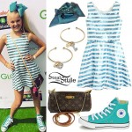 Jojo Siwa: Sequin Stripe Dress, Hair Bow