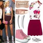 Jordyn Jones: Scallop Skirt, Pink High-Tops