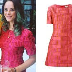 Kaya Scodelario: Love Print Dress