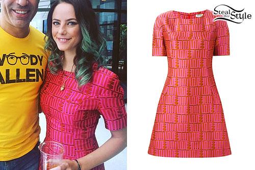 Kaya Scodelario: Love Print Dress