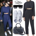Kendall Jenner: Stripe Wrap Trousers