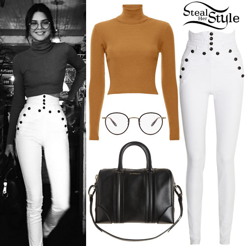 Kendall Jenner Turtleneck Top High Rise Pants Steal Her Style