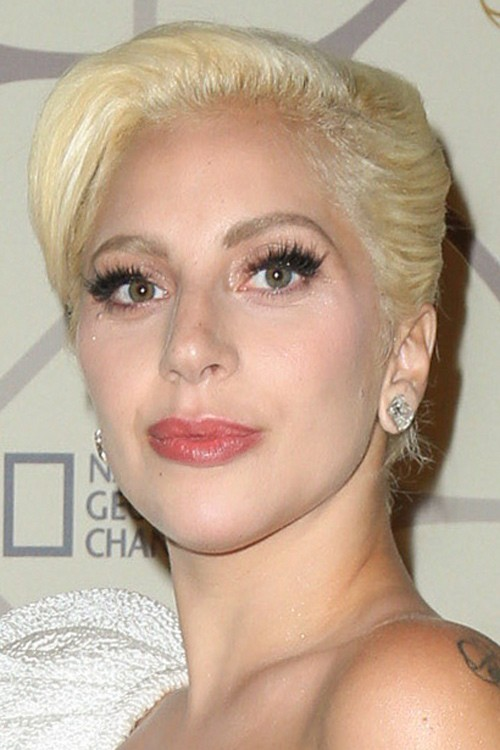 ... Gaga Straight Golden Blonde Beehive, Updo Hairstyle | Steal Her Style