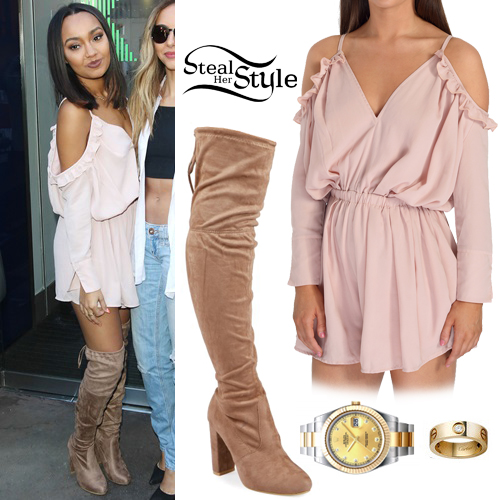867ee9e17ae Leigh-Anne Pinnock  Cold Shoulder Playsuit