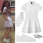 Lorde: Scalloped Shirt Dress