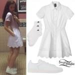 Lorde: Scalloped Shirt Dress