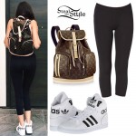 Madison Beer: Leather Backpack, High-Tops