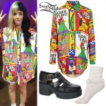 Melanie Martinez: Cereal Print Button-Up