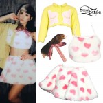Melanie Martinez: Furry Heart Skirt