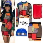 Nicki Minaj: Patchwork Sweater Set