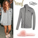 Rihanna: Gray Track Jacket