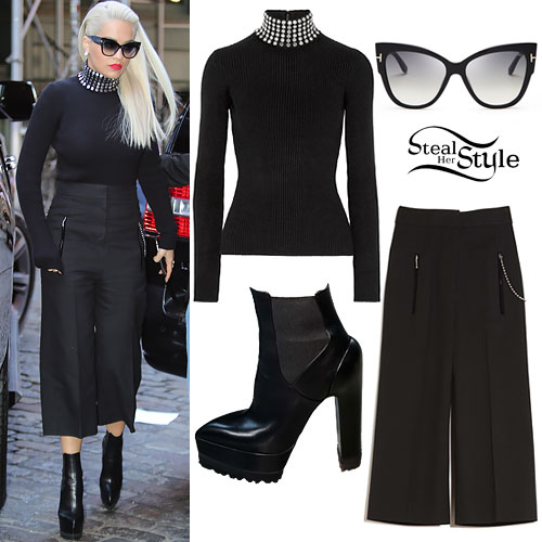 Rita Ora: Studded Turtleneck
