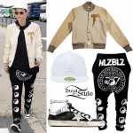Ruby Rose: White Hat, Varsity Jacket